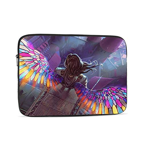 YTUTRfb Fantasy Angel Laptop Sleeve Bag - Evecase 10 Inch Neoprene Universal Sleeve Zipper Protective Cover Case for Notebook
