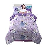 Franco Kids Bedding Super Soft Comforter and Sheet Set with Bonus Sham, 5 Piece Twin Size, Disney Frozen