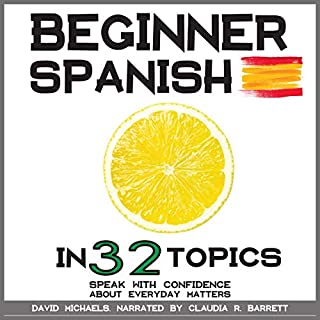 Beginner Spanish in 32 Topics audiobook cover art