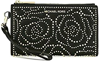 10f4bc48c390 MICHAEL Michael Kors Adele Rose Studded Leather Smartphone Wallet in Black