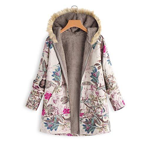 Vrouwen Fluweel Warm Outwear Dames Lange Mouw Bloemen Print Casual Vest Jas Bont Kraag Rits Hooded Mode Wilde Jas