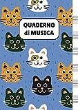 Quaderno di Musica: Pentagrammato per Bambini (con Gatti)