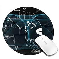 マウスパッド 円形 かわいい オフィス最適 数学 幾何 方程式 個性 背景ゲーミング エレコム 防水性 耐久性 滑り止め 多機能 おしゃれ ズレない 直径20cm