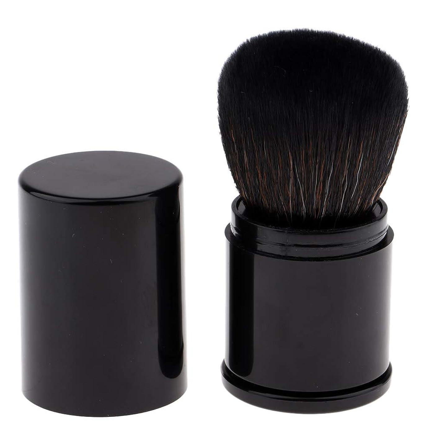 強います社会主義ウォーターフロントCUTICATE 化粧筆 メイクブラシ ファンデーションブラシ ルースパウダー BBクリーム用 旅行用品 全2色 - 黒