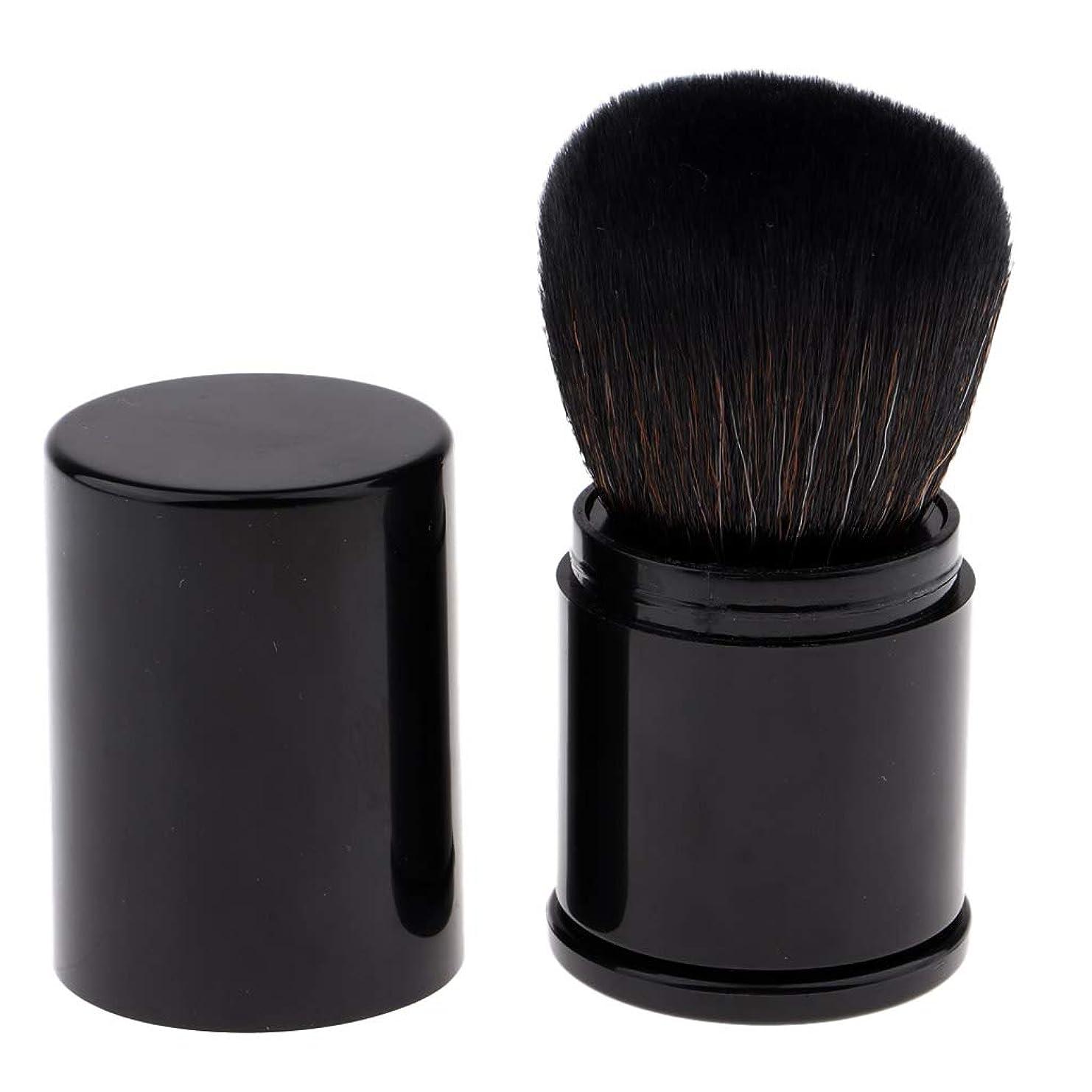 ブラシバンパイプラインCUTICATE 化粧筆 メイクブラシ ファンデーションブラシ ルースパウダー BBクリーム用 旅行用品 全2色 - 黒