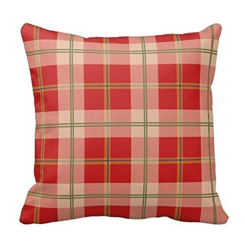 Funda de almohada de estilo europeo Peach rosa Lattice Square, funda para sofá, cama, decoración del hogar, regalo de Navidad, cremallera doble, 40 x 40 cm