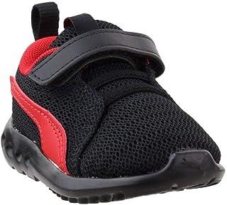 PUMA Baby Carson 2 Velcro Sneaker, Black-high Risk red, 5 M US Toddler