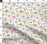 Heißluftballons, Luftballons, Himmel, Wolken, Pastell,