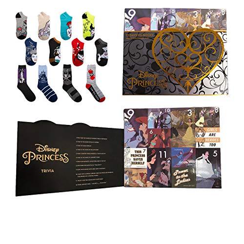 Disney Princess and Villians 12 Days of Socks Advent Calendar Gift Set (Womens)