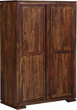 Shilpi Handmade Exclusive Sheesham Wood Wardrobe Perfect for Living Room Provincial Teak Finishing
