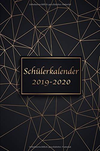 Schülerkalender 2019/2020: Kalender, Terminkalender, Schulkalender und Hausaufgabenheft 2019-2020 - Der Schulplaner von August 2019 bis August 2020