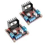 xingxing Módulo de accionamiento de 2 piezas L298N Dual H Bridge Stepper Motor Driver Board para Arduino - productos que funcionan con placas Arduino oficiales módulo de unidad módulo de unidad