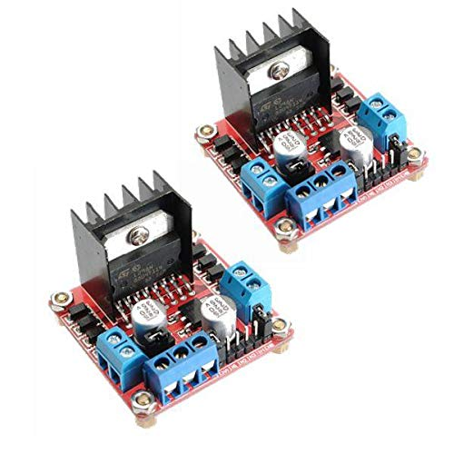 SYLOZ-URG 2 STÜCKE TWOFOLD H Bride L298N Stepper Motor Driver Board for Arduino - Produkte, die mit verschriebenen Arduino-Boards Arbeiten URG