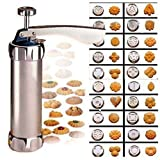 Cookie Press Maker Kit for DIY Biscuit Maker and Decoration with 20 Stainless Steel Cookie discs and...
