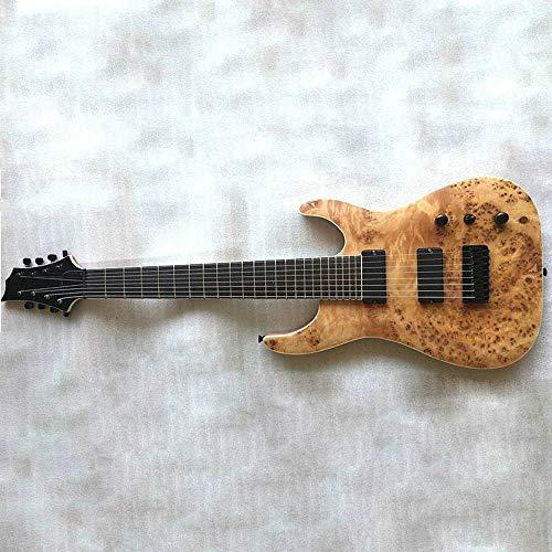 Guitarra Eléctrica De Caoba Sólida De Madera Principiante 8 Cuerdas Guitarra Altavoz...