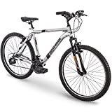 26' Royce Union RTT Mens 21-Speed Mountain Bike, 18' Aluminum Frame, Trigger Shift, Silver