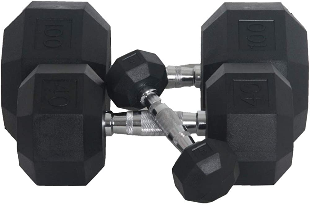 Fitness Ranking TOP12 First Rubber Hex lbs Pairs 5-100 Dumbbell Manufacturer direct delivery
