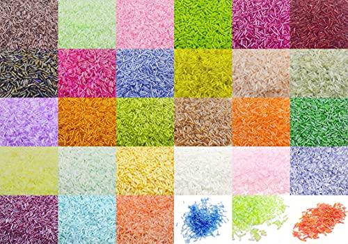 19800 perlas de rocalla, 6 x 2 mm, juego de 30 colores, 600 g, tubos de cristal, tubos, varillas, perlas de cristal para joyas