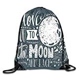 NoBrand Drawstring Backpack Sports Gym Bag for Women Men, D2463 Wish From The Universe Harvest Swirls Branches Floral Leaves Stars