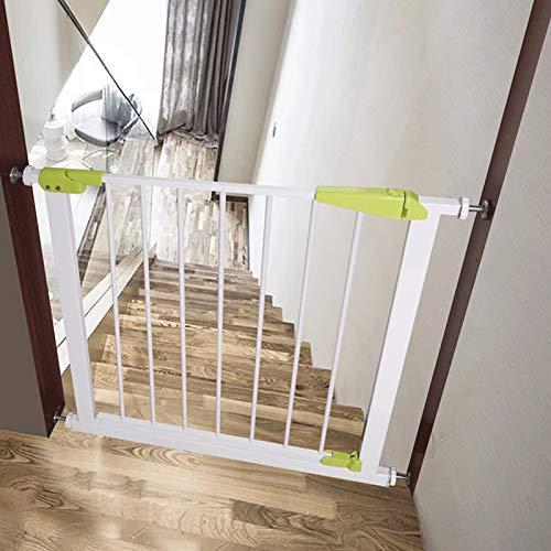 NOBAND Valla Alto Quanlity compuerta de Seguridad Escalera Valla Ninguna perforación Perro Mascota Cerca de Aislamiento del hogar barandilla de protección XQ-11.24 (Color : Pink, Size : 7cm(3inch))