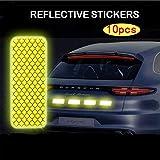 Pegatinas reflectantes de seguridad 10 piezas de coches pegatinas reflectantes for vehículos eléctricos motocicletas bicicletas facilita película reflexiva rasguños blindaje para motocicleta, coches,