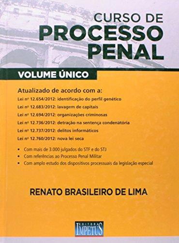 Curso De Processo Penal - Volume Único