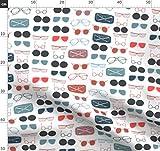 Sonnenbrillen, Brille, Brillen, Rot Weiß Blau, Sommer,