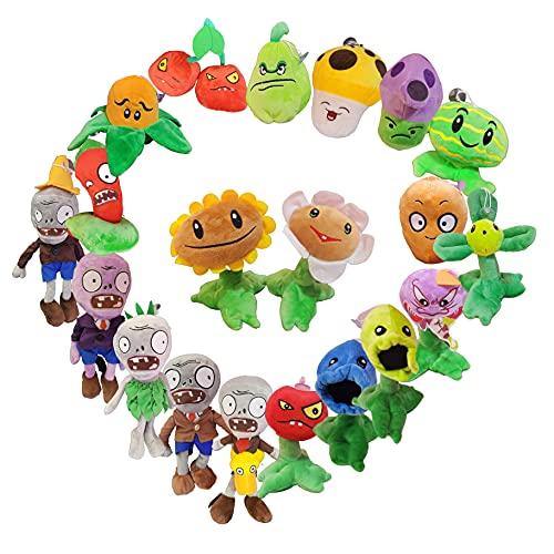 Plants vs zombies - Juego completo de plantas contra zombies, muñecas, juguetes de peluche, guisantes, cubos de hierro, colgantes gigantes zombies