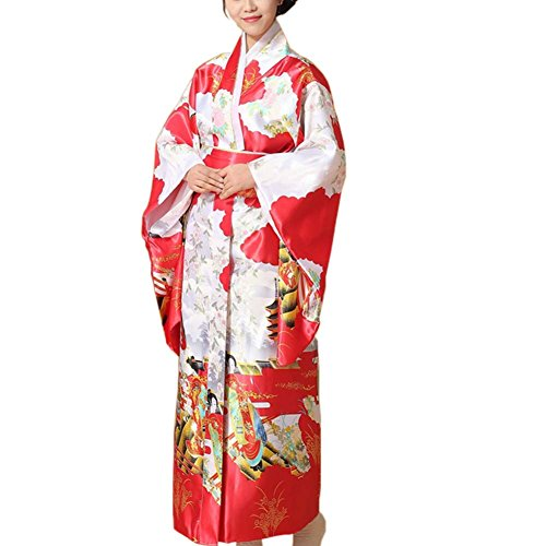 Fancy Pumpkin Kimono japonés Impreso Floral Yukata Cosplay Ladies Party Ropa de Dormir, C