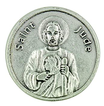 Patron of Impossible Causes Saint St Jude Pocket Token with Prayer Back