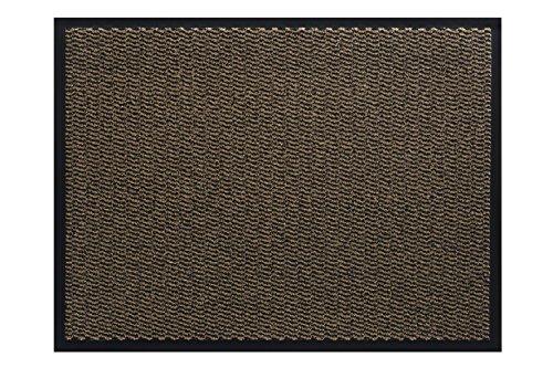 Jan Max Alfombra para atrapar la Suciedad - 5 tamaños - Alfombra para Uso en Interiores y Exteriores - Alfombra para Correr en Negro-marrón 90 x 150 cm