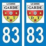 Zone-Stickers Autocollants Plaque Immatriculation Commune La Garde - Var - Carrés