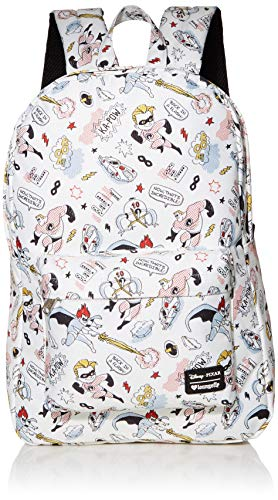 Disney Pixar Incredibles 2 Kapow Backpack by Loungefly,White