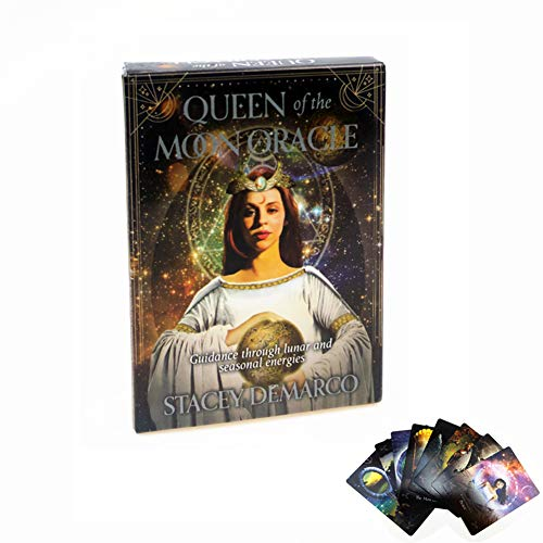 ZWC-tool 44 pcs Queen of The Moon Oracle Cards Tarot DeckCard Divination Destiny Board Game Card