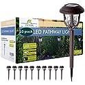 10-Pack ExcMark Solar Pathway Lights