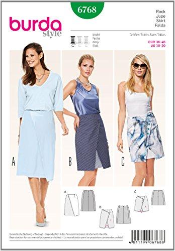 burda 6768 - Patrón de Costura para Falda: Amazon.es: Hogar
