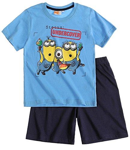Minions Pyjama Kollektion 2016 Shortie 110 116 122 128 134 140 146 152 Shorty Kurz Schlafanzug Blau (110 - 116)