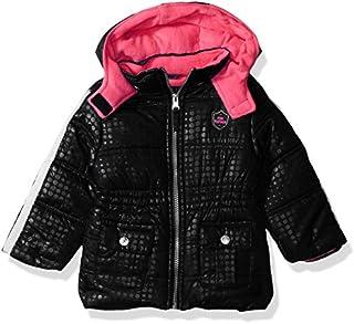 Pink Platinum Baby Girls Tonal Dot Puffer
