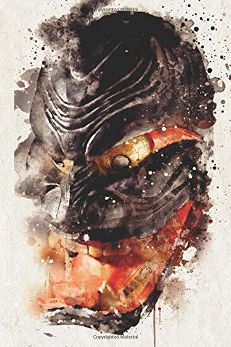 Watercolor Japanese Demon Mask: Blank Lined Notebook, Journal or Diary