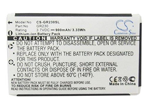 CS-GR230SL Batería 900mAh Compatible con [BELKIN] Bluetooth GPS Receiver, [SOCKETMOBILE] Communications Bluetooth GPS Receiver, [HOLUX] GR-230 GPS Receiver, GR-231 GPS Receiver sustituye 300-20371200