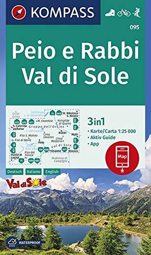 KOMPASS Wanderkarte Peio e Rabbi, Val di Sole: 3in1 Wanderkarte 1:25000 mit Aktiv Guide inklusive Karte zur offline Verwendung in der KOMPASS-App. ... Skitouren. (KOMPASS-Wanderkarten, Band 95)