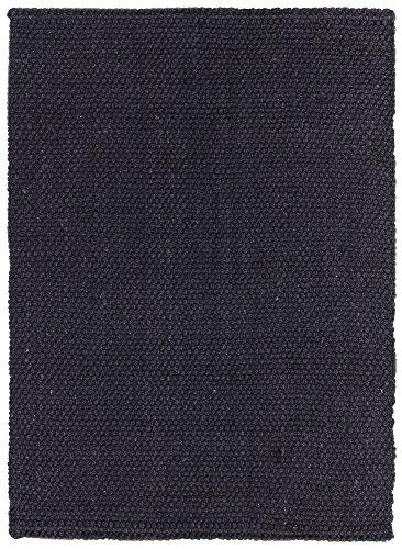 HAMID Alfombra Yute Panamá - 100% Fibra Natural (Negro, 200x300cm)