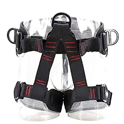 TRIWONDER Climbing Harnesses Protect Waist Safety Harness Wider Half Body Harness for Rock Climbing Tree Climbing Fire Rescue Expanding Training Rappelling Mountaineering