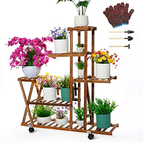 (50% OFF) Outdoor Plant Stand Multi Tier $22.77 – Coupon Code