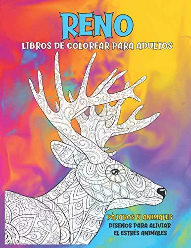 Libros de colorear para adultos - Diseños para aliviar el estrés Animales -...
