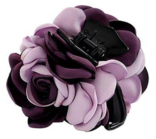 Fleurs/cheveux Barrette pince à cheveux pour les femmes/Lady/Girls Hair Ornament, Violet # 25