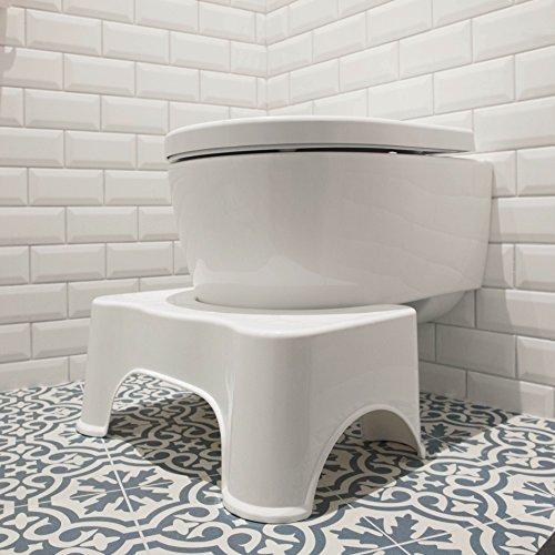 ToiletSquat Toilettenhocker | Medizinische Toilettenhilfe Tritthocker | bessere Sitzhaltung auf der Toilette | Aufstiegshilfe für Kinder | gegen Verstopfung und Hämorrhoiden