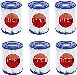 JWJW - Cartuchos de filtro para piscinas Bestway Flowclear Typ II, para Bestway 58094 II, tamaño 2, tipo 2, 6 unidades