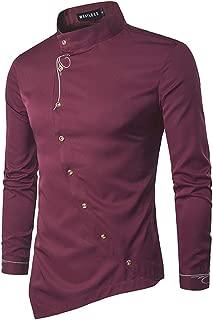 2XL Camicia da Uomo Cravatta Set per Ragazzi a Maniche Lunghe Tinta Unita Formali Eleganti Festa samli S