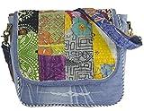 Sunsa Damen Messenger Bag Umhängetasche Handtasche, aus Jeans & Baumwolle. Große Crossbody Tasche Schultertasche, Geschenkideen für Frauen/Mädchen, nachhaltige Produkte 52266